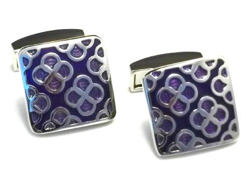 Boutons de manchette - Motifs violet