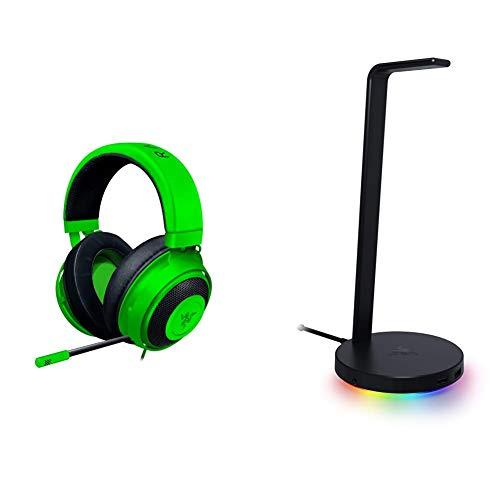Razer Kraken Gaming Headset + Base Station V2 Chroma Bundle: Green