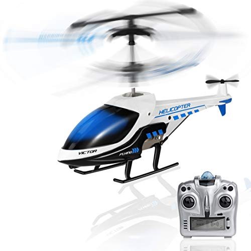 RC Helicopter, KOOWHEEL Rremote Control Helicopter with Gyro and LED Light 3.5 Channel Hobby Alloy Mini Indoor RC Helicopter, Toy Gifts for Kids Boys Girls