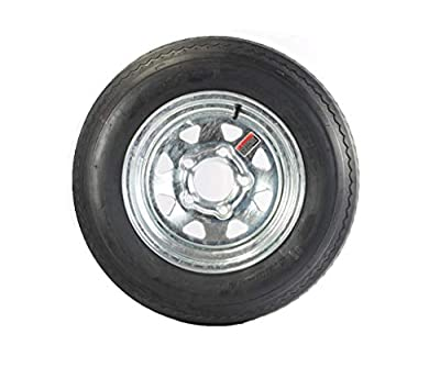 2-Pk Trailer Tire Rim 5.30-12 12 in. Load C 5 Lug Galvanized Spoke Wheel