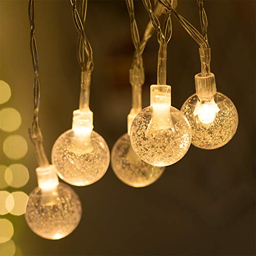 AOKKR Cadena de Luces Led, Farolillos Decorativos con Pilas y Mando, IP44 Impermeable 8 Modos, 5.3M 50 LED, Guirnaldas Luces Led para Interior, Casas,Fiestas, Bodas, Jardín