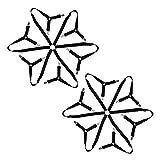 HOSTK 2PC 6 Seiten Dreieck Bettlaken Befestigungen Hosenträger Halter Riemen Greifer Clip - Fit All Size Bettwäsche Matratzenschoner Sofakissen Tisch Einstellbar