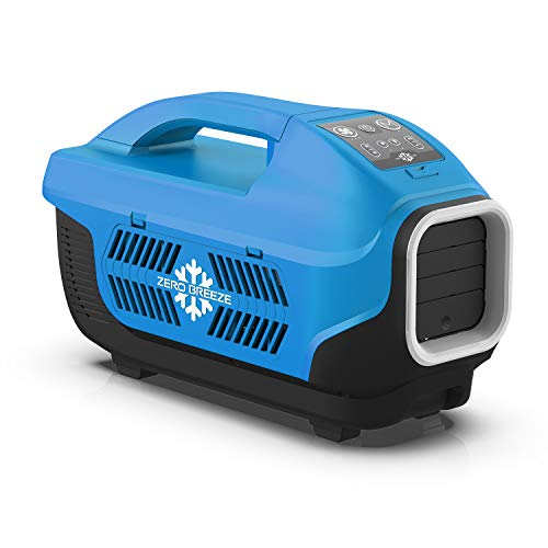 Zero Breeze Z19-B Portable Air Conditioner for Camping, 5-in-1 Multi Functions, Suit for 1-4 Person Tent, RV, Van, Truck and Outdoors, Without Battery (Blue)