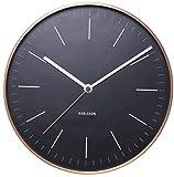 Karlsson Minimal - Reloj de pared, perfil de cobre, color negro