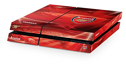Official Arsenal FC Merchandise Premium Vinyl Anti-Scratch PS4 Console and Controller Skins -Red PS4 Accessories - Arsenal FC Gifts for Men & Women