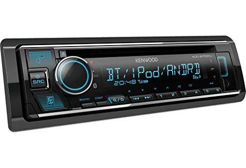 Kenwood KDC-BT530U Car Stereo Single Din CD Receiver with Bluetooth, USB Slot