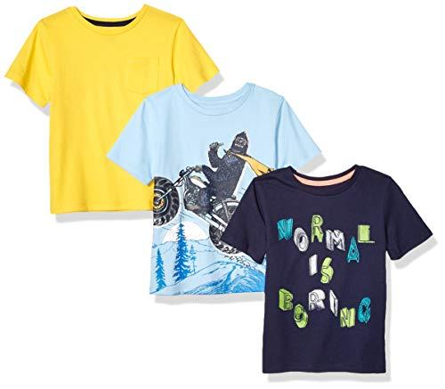 Spotted Jungen Zebra 4-Pack Short-Sleeve T-Shirt, Moto Yeti., X-Small