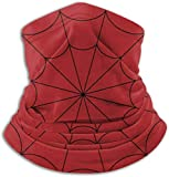DFGHG Camping Senderismo Ropa Hombre Sombreros Sombreros Sombreros multifuncionales Spider Web Cobweb on Red Background Unisex Microfiber Neck Warmer Headwear Face Scarf Mask For Winter Cold Weather M