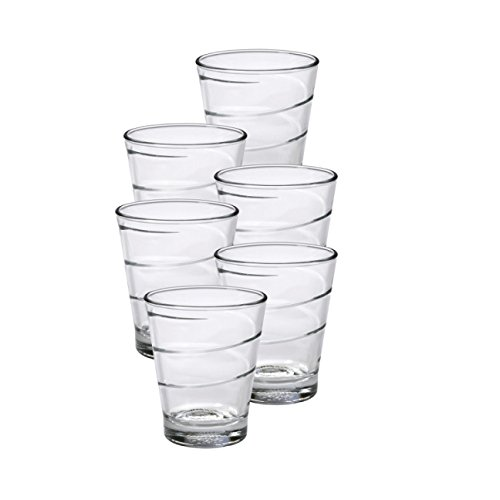 Duralex - Vaso en espiral de 30 cl, 6 unidades, cristal transparente