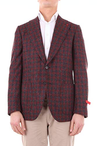 Luxury Fashion | Isaia Heren 121GFI87330BURGUNDY Bordeaux Andere Materialen Blazers | Seizoen Outlet