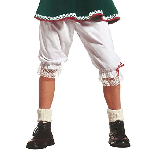 Liebestöter Trachtenhose Oktoberfest Knickerbocker Hose M/L 38/44 Rüschen Unterhose Unisex Knielange Schlafhose Fasching Wiesn Rüschenhose Bad Taste Mottoparty Accessoires Karneval Kostüm Zubehör