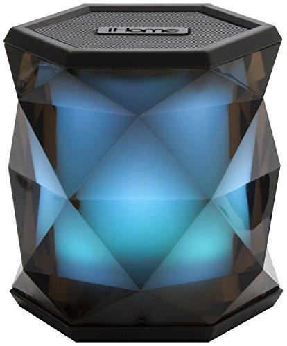 iHome iBT68 Kabelloser Bluetooth Lautsprecher mit Freisprechfunktionund Farbwechsel Modus