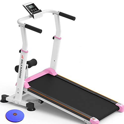 Check Out This Height Adjustable Manual Treadmill with Adjustable Incline, Home Gym Heavy Duty Steel...