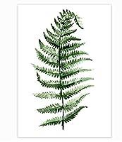 スカンジナビアスタイルの熱帯植物ポスター緑の葉装飾的な写真リビングルームの家の装飾のための現代の壁の芸術の絵画フレームなしの40×60