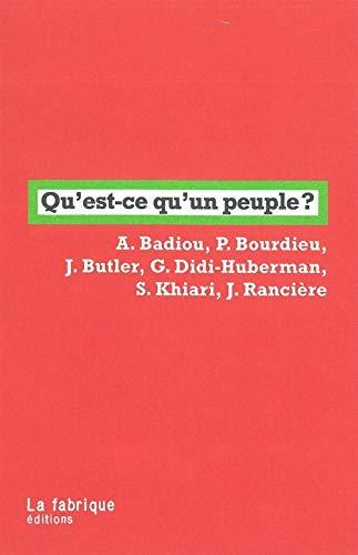 Qu'est-ce qu'un peuple ?