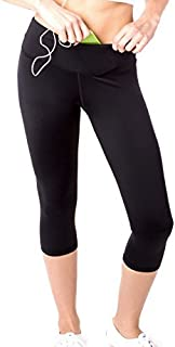 Sport-it Capris High Waisted Leggings Tummy Control Pants with Pockets