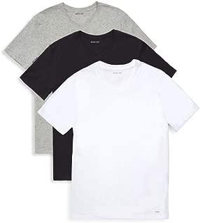 Men`s Performance Cotton V-Neck T-Shirts 3 Pack