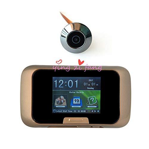 """YBZS Überwachungskamera Türklingel,Startseite Elektronische Türklingel 2,8 """"TFT-Display CMOS-Sensor Tür Sucher Videorecorder Digital Katzenauge Sucher Hohe Qualität"""
