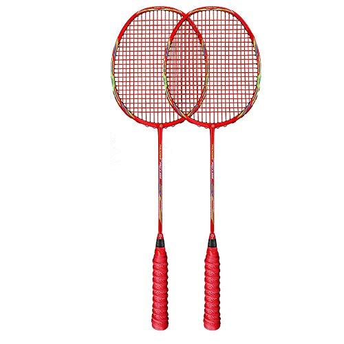 Adult Carbon 4U Badmintonschläger, Sowohl Offensiver Als Auch Defensiver/Dauerhafter Kampf- / Stoßdämpfungsschutz, Gemäß Technischem Design
