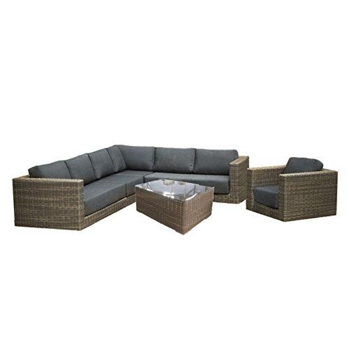 Gartenlounge OUTLIV. Aria Loungeset 6-teilig Geflecht Kubu grau 712801-841085