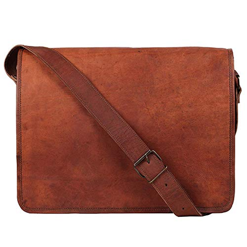 Rustic Town 11 inch (Small) Vintage Crossbody Genuine Leather iPad Messenger Bag (For 10.5 inch iPad Pro)