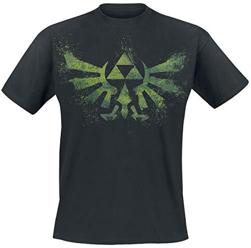 Difuzed B.V. The Legend of Zelda Wingcrest - Triforce Männer T-Shirt schwarz L