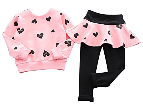 BomDeals Adorable Cute Toddler Baby Girls Clothes Set,Long Sleeve T-Shirt +Pants Outfit (Age(4T),...