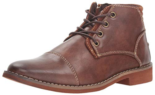 Deer Stags Boy's Hamlin Memory Foam Dress Comfort Cap Toe Boot, Brown, 1 Medium US Little Kid