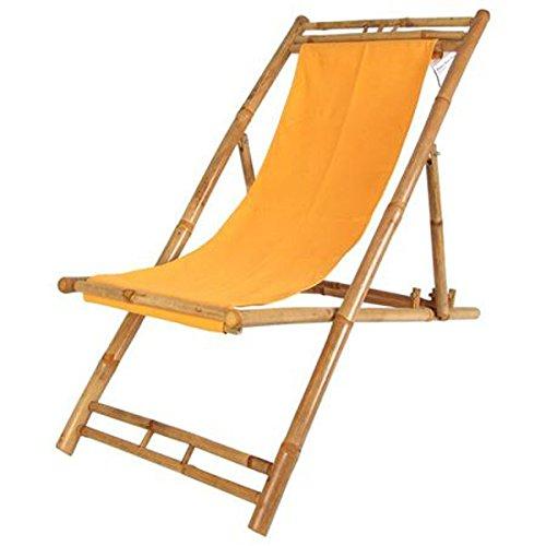 Bambus Relax Liegestuhl Terrakotta...