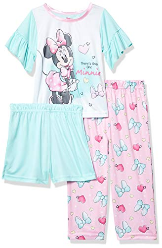 Disney Baby Girls' Minnie Mouse 3-Piece Pajama Set, Only One, 2T