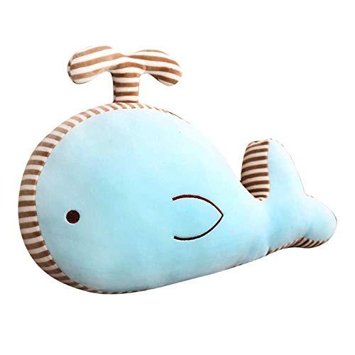 Cartoon Plüsch Spielzeug Gefüllte Meer Tierpuppe Weiche Blaue Wale Nette Delphin Kawaii Sofa Kissen Für Kinder Mädchen 50x30cm B Laimi (Color : A, Size : 50X30cm)