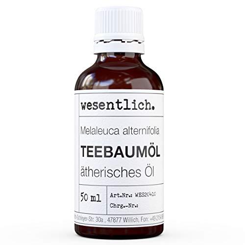 wesentlich. Teebaumoel - ätherisches Öl - 100% naturrein (Glasflasche) - u.a. für Duftlampe und Diffuser (50ml)