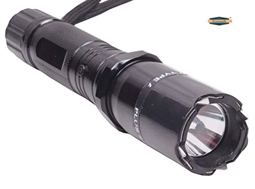 Bismaadh Metal Moto69 Torch for Safety and Protection (Black)