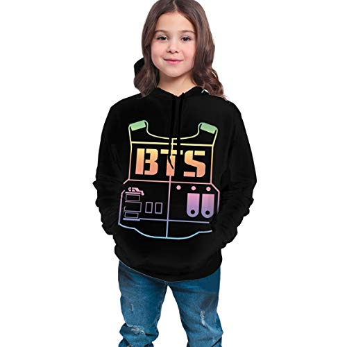 Supporter Sweaters Bulletproof_BTS Fans DIY Hoodie with Hats Packets Coat Sweatshirts for Young Girls and Boys 10-12 Years
