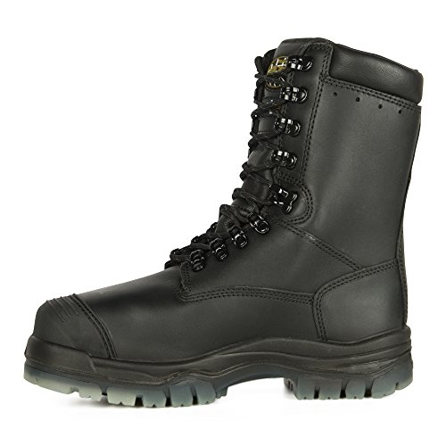 """Oliver 45 Series 8"""" Leather Composite Toe Waterproof Insulated Men's Metatarsal Boots, Black (45680C)"""