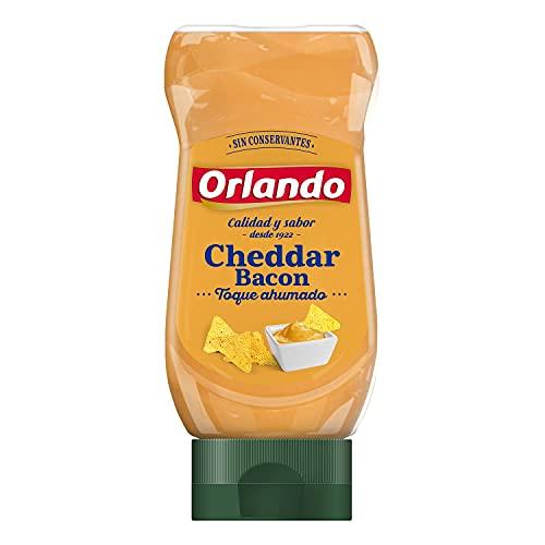 ORLANDO Salsa Cheddar Con Bacon envase 235g