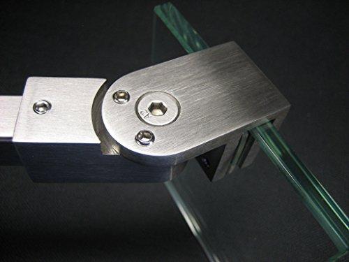 Duschwand Stabilisierung aus Edelstahl matt gebürstet 300mm - 500mm - 1000mm - 1500mm (1000mm)