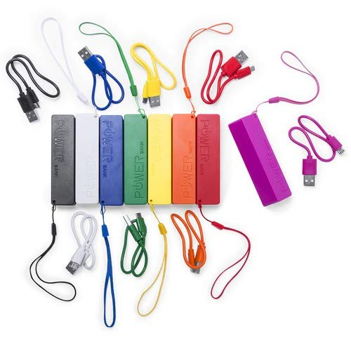 Power Bank Diseño 2000 mAh en Caja de Regalo con Cable USB - Cargador Ideal para Recuerdos, Regalos de Bodas, Bautizos, Comuniones, Comprar Online