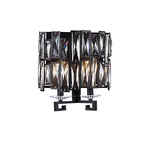 ZWL Retro Black Iron K9 Lampe murale en cristal Living Room Lampe murale Lampes de chevet de chambre, Creative Heads multiples 35 * 27CM Home Lighting Décoration Lampes et lanternes Toilettes Étude Balcon Lampes Lustre Cheminée Applique mode ( taille : 35*27CM )
