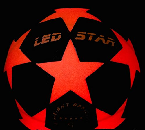 Leuchtfussball Night Kick LED Star Champion der Leuchtfussbälle
