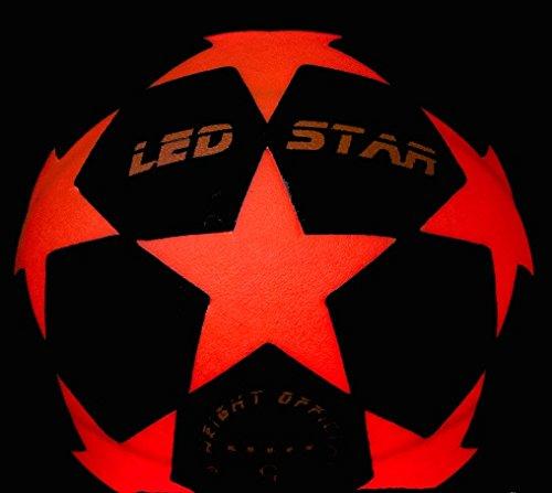 ¡pelota futbol luz NIGHT KICK LED STAR - regalo final