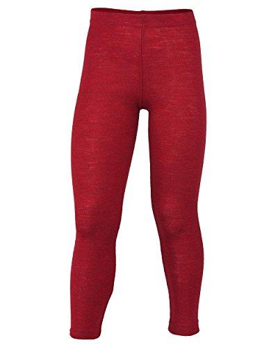 Engel Natur Kinder-Leggings, 100% Bio-Merinoschurwolle (116, rot melange)