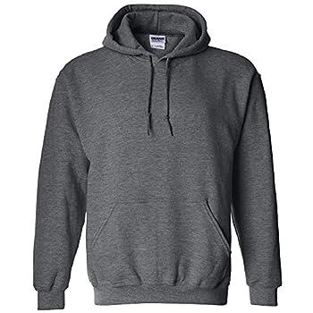 Gildan Men s Fleece Hooded Sweatshirt Style G18500 Dark Heather Large