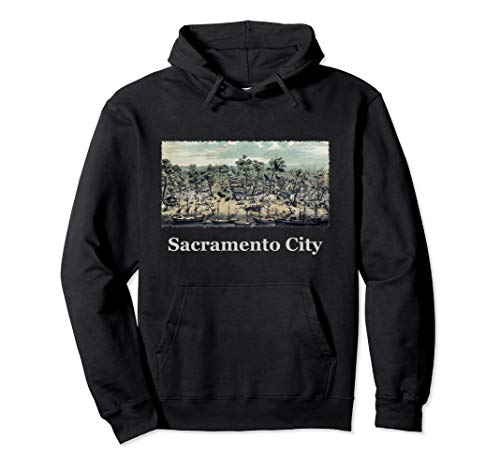 Antique Map of Sacramento City, California, 1850 Hoodie