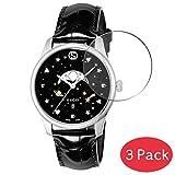 VacFun 3 Piezas Vidrio Templado Protector de Pantalla para Gucci YA126327 / YA126332, 9H Cristal Screen Protector Sin Burbujas, Alta Definición Película Protectora Reloj Inteligente Smartwatch Pulsera