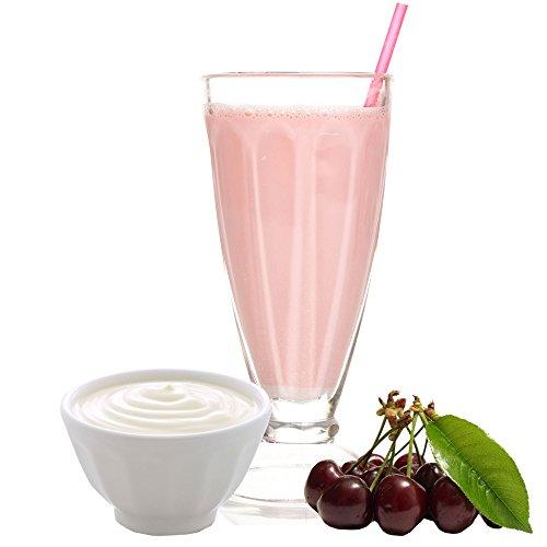 Sauerkirsch Joghurt Molkepulver Luxofit mit L-Carnitin Protein angereichert Wellnessdrink Aspartamfrei Molke (Sauerkirsch Joghurt, 333 g)
