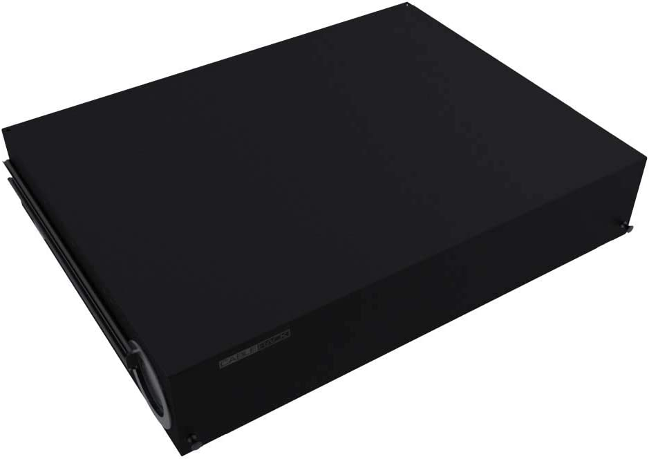 CableRack 2U Rack Mount Fiber Enclosure 48 Port Tray with Slots for LC and SC Couplers Black