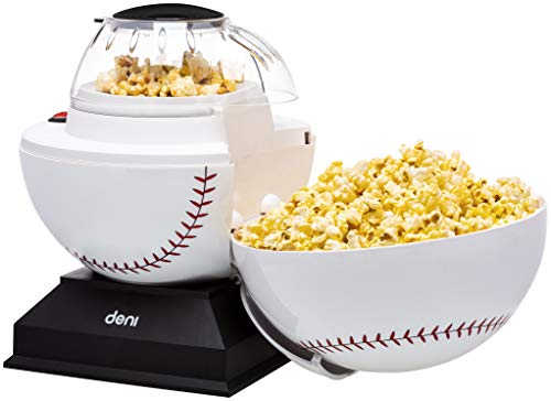 Best Bargain Deni Popcorn Maker 14 Cup Sports Hot Air Popcorn Popper Baseball Baseball Baseball Base...