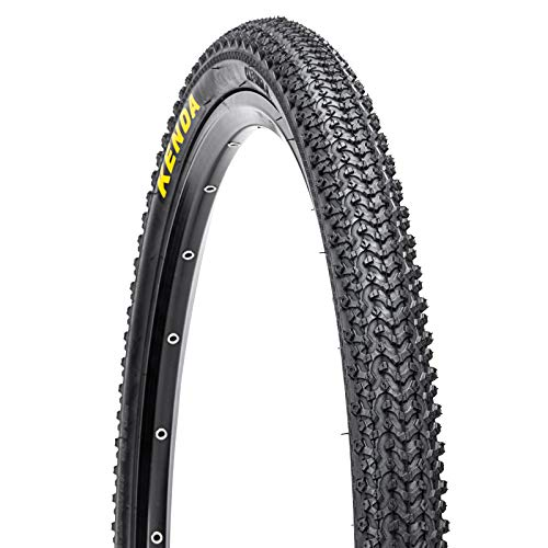 BUCKLOS 【US Stock】 24/26/27.5 x 1.95/2.1 Mountain Bike Tires, MTB Bike Bead Wire Tire for Mountain, Bicycle Cross Country Tire 24/26/27.5 for Mountain, Non-Slip, Durable, Fit XC, AM, City Bike, 1PC