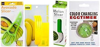 Kitchen Utensils Bundle Set Banana Slicer Watermelon Slicer Avocado Slicer and Egg Timer product image